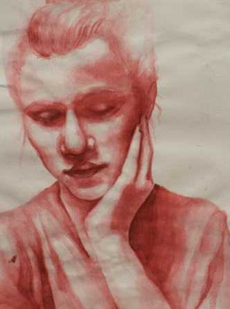 "Sadie Tomes, a student at Collierville High School, won Best in Show, Senior Division with this piece, ""Reflecting Upon Myself""."